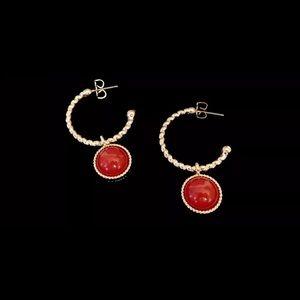 Reversible Ancient Treasures Hoop Earrings